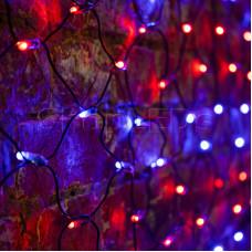 Гирлянда - сеть 2х1,5м, черный ПВХ, 288 LED Красные/Синие